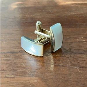 Mother of Pearl gold tone cufflinks